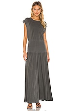 NSF Alice Full Skirt Dress in Pigment Black