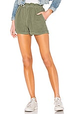 NSF Annora Paper Bag Waist Short in Olive