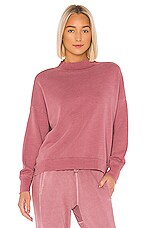 NSF Cleo Mock Neck Sweatshirt in Pigment Fuchsia