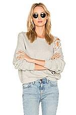 NSF Farah Sweatshirt in Heather Grey Destroy
