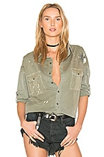 Johnna Shirt in Painted Pigment Olive