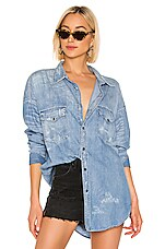 NSF Western Boyfriend Shirt in Distressed Ranch