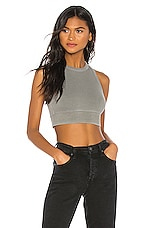 NSF Alicia Sleeveless Crop Top in Pigment Cargo