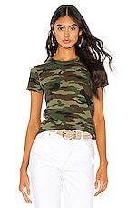 NSF Alessi Baby Tee in Deep Olive Camo
