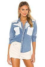NSF Teagan Western Button Up in Wyoming Wash