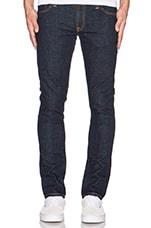 JEAN SLIM NOIR DÉLAVÉ TIGHT LONG JOHN