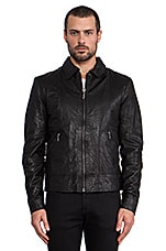 Jonny Leather Jacket en Noir
