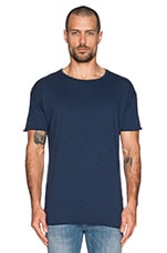 Hem T-Shirt Org. Slub in Blue