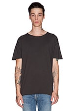 Raw Hem T-Shirt Org. Slub in Dark Grey