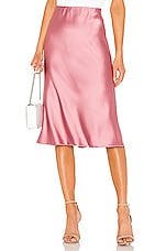 Nanushka Zarina Bias Skirt in Rose