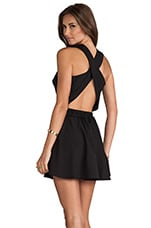 Twisted Circle Dress in Black