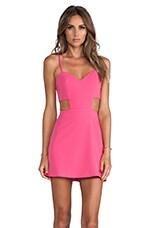 Sweetheart Cutout Dress in Pop Pink