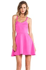 Crossed Circle Mini Dress in Pop Pink