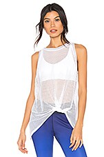 Nylora Ethan Tank in White & Lilac