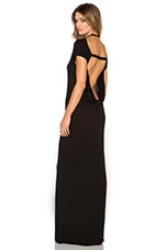 Open Back Maxi Dress in Black