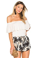 Off Shoulder Ruffle Top in Sand