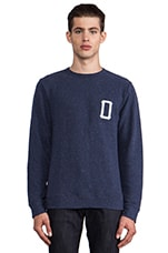 Hitter Pullover in Heather Indigo