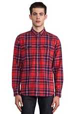 Drifter Flannel Button Down in Red
