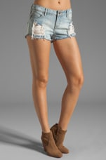Lace Denim Short in Destroy