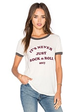 T-SHIRT GRAPHIQUE NEVER JUST ROCK N ROLL