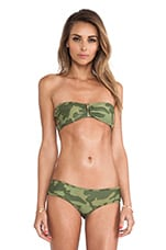 Wasted Years Bandeau Top in Field Camo