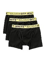 OFF-WHITE Tripack Boxer Shorts in Black & Yellow