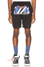 OFF-WHITE Thermo Mesh Shorts in Black Multi