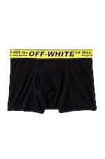 OFF-WHITE Single Pack Boxer in Black & Yellow