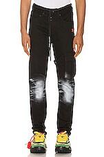 OFF-WHITE Slim Asymmetric Jeans in Black