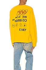OFF-WHITE Industrial Y013 Incomp Crewneck in Yellow & Black