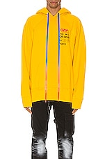 OFF-WHITE Industrial Y013 Incomp Hoodie in Yellow
