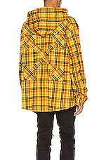OFF-WHITE Hoodie Check Shirt in Yellow