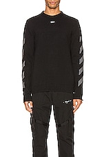 OFF-WHITE Knit Crewneck in Black Melange Grey