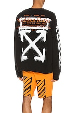 OFF-WHITE Cartoon Incompiuto Crewneck in Black & White