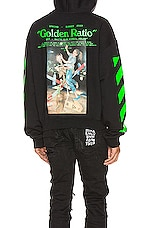 OFF-WHITE Pascal Painting Over Hoodie in Black & Multi