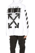 OFF-WHITE Dripping Arrows Incomp Hoodie in White & Black