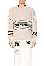 OFF-WHITE Cotton Off-White Sweater in Medium Grey
