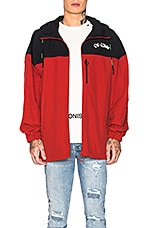 OFF-WHITE Windbreaker Jacket in Red & White