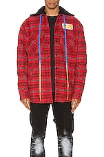 OFF-WHITE Flannel Jacket in Red