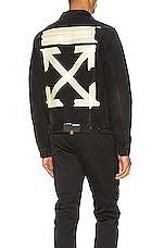 OFF-WHITE Tape Arrows Slim Jeans Jacket in Black Beige