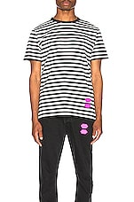 OFF-WHITE EXCLUSIVE Striped Tee in Black
