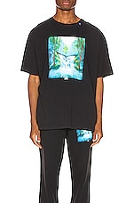 OFF-WHITE Waterfall Oversized Tee in Black Multi