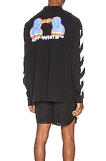 OFF-WHITE Diag Thermo Tee in Black Multi