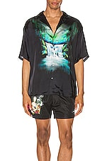 OFF-WHITE Waterfall Holiday Shirt in Black Multi