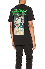 OFF-WHITE Pascal Painting Slim Tee in Black & Multi