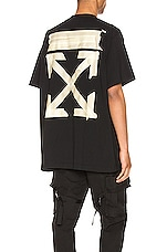 OFF-WHITE Tape Arrows Over Tee in Black & Beige