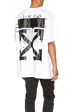 OFF-WHITE Dripping Arrows Tee in White & Black