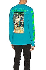 OFF-WHITE Pascal Painting Long Sleeve Tee in Petrol Blue & Multi