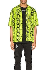 OFF-WHITE Snake Holiday Shirt in Fluo Yellow