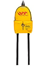 OFF-WHITE Industrial Y013 Backpack in Yellow & Red
